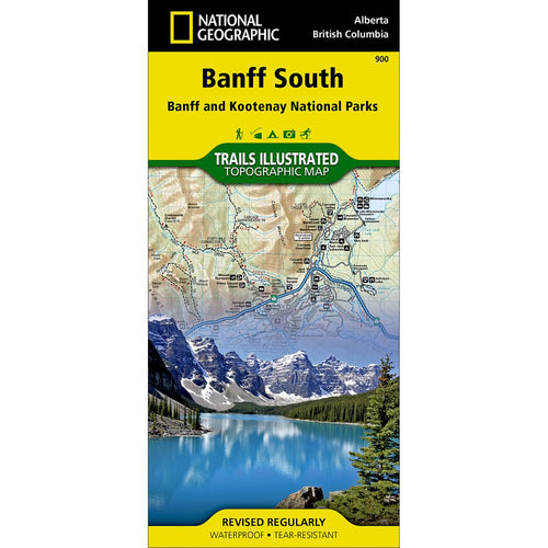 Image of Banff South (Banff and Kootenay National Parks) Trail Map (#900)