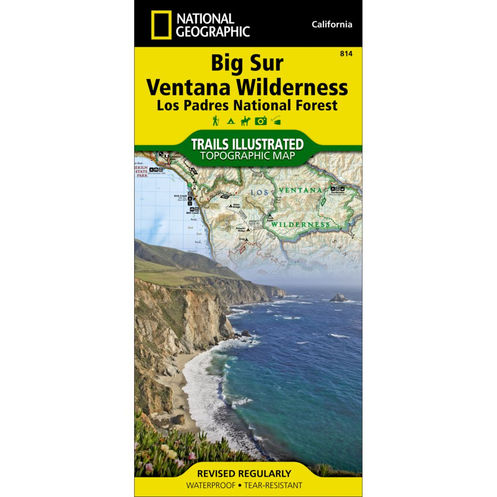 Big Sur, Ventana Wilderness [Los Padres National Forest] Trail Map (#814)