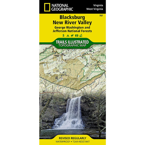 Blacksburg, New River Valley [George Washington and Jefferson National Forests] Trail Map (#787)