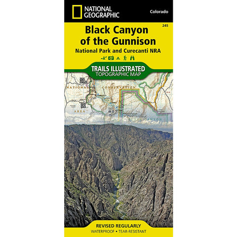 Black Canyon of the Gunnison National Park [Curecanti National Recreation Area] Trail Map (#245)