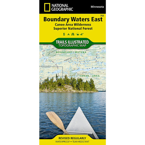 Boundary Waters East [Canoe Area Wilderness, Superior National Forest] Trail Map (#752)
