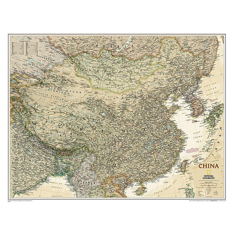 China Executive Wall Map (30.25 x 23.5 inches)