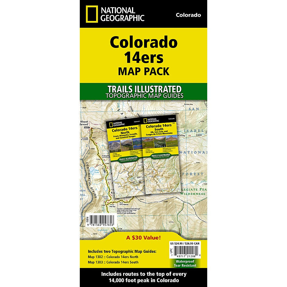 Colorado 14ers [Map Pack Bundle] Trail Maps on mountains map, golf map, travel map, mt evans map, state high points map, interactive topo map, home map, art map, hiking map, baseball map, food map, hunting map, national parks map, sawtooth wilderness topo map, waterfalls map, sports map, backcountry map, lakes map, camping map, mt antero map,