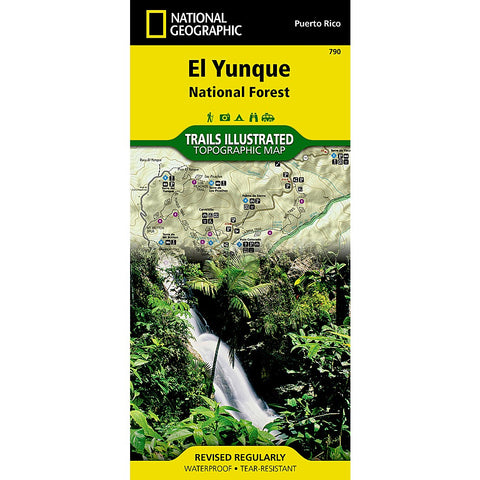 El Yunque National Forest Trail Map (#790)