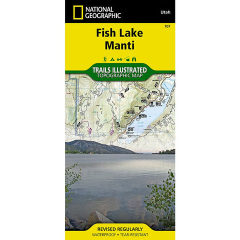 Fish Lake, Manti Trail Map (#707)