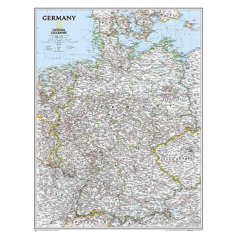 Germany Classic Wall Map (23.5 x 30.25 inches)