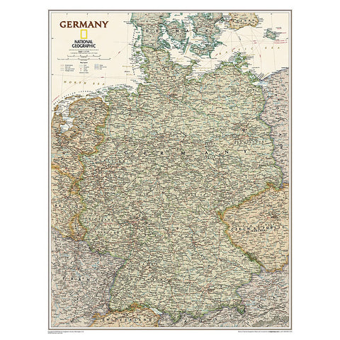 Germany Executive Wall Map - Laminated (23 x 30 inches)