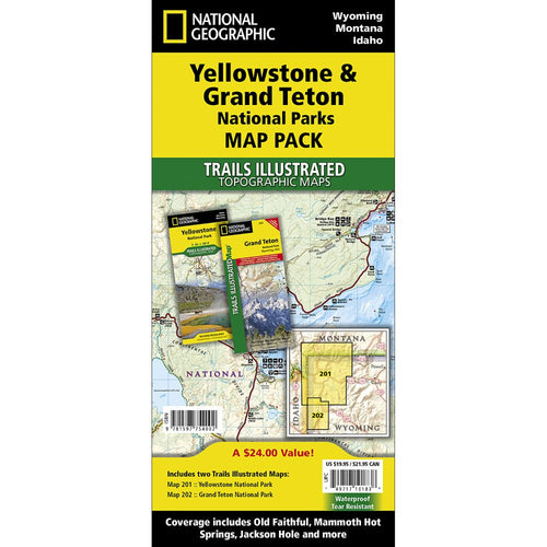Image of Yellowstone and Grand Teton National Parks Trail Maps (Map Pack Bundle)