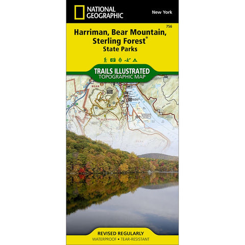 Harriman, Bear Mountain, Sterling Forest State Parks Trail Map (#756)