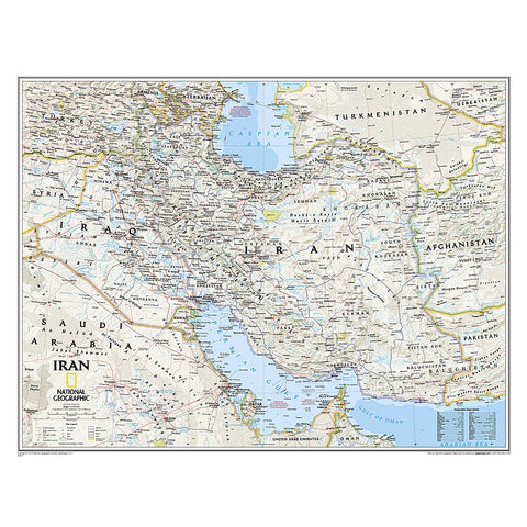 Iran Classic Wall Map - Laminated (30.25 x 23.5 inches)