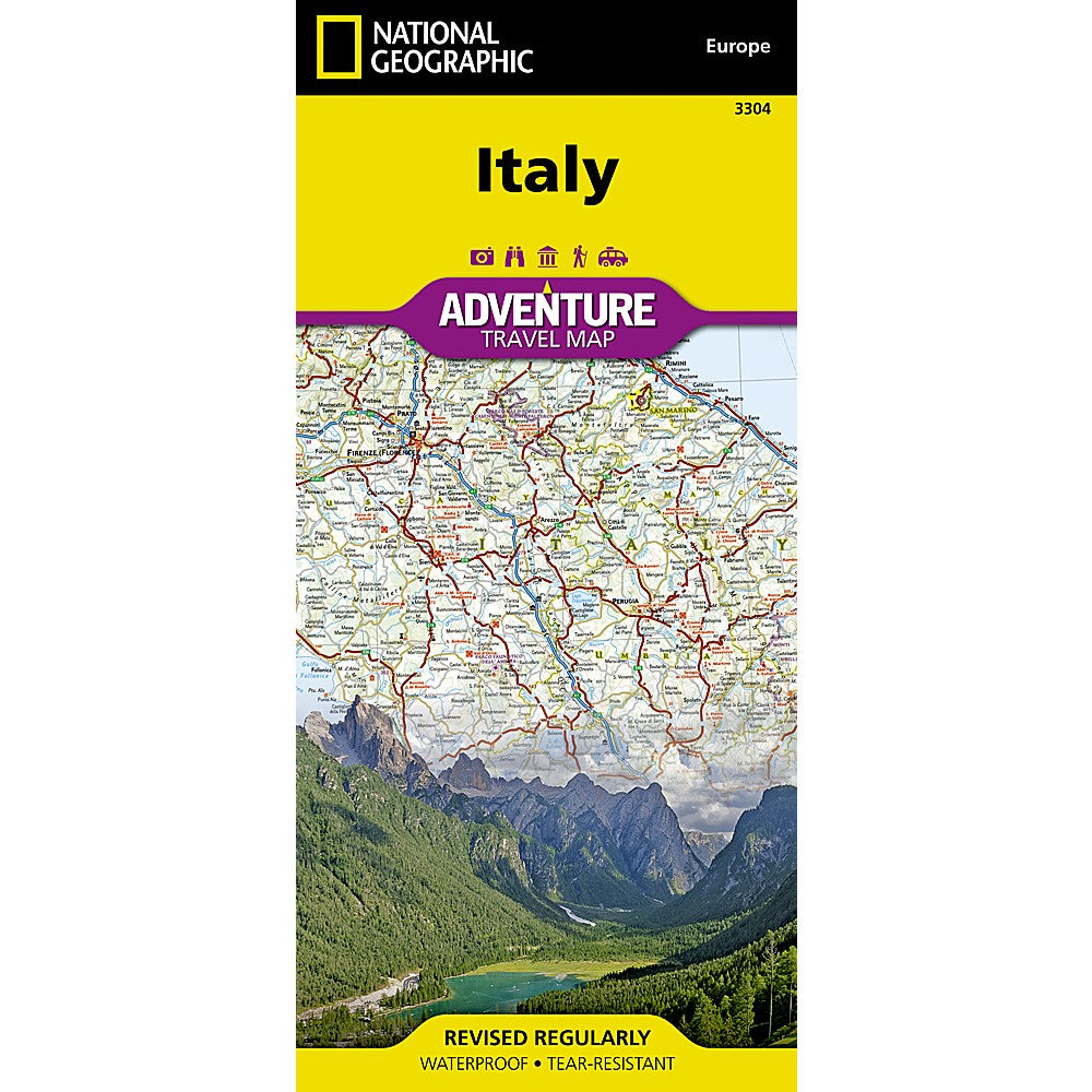 Italy Adventure Map Shop National Geographic