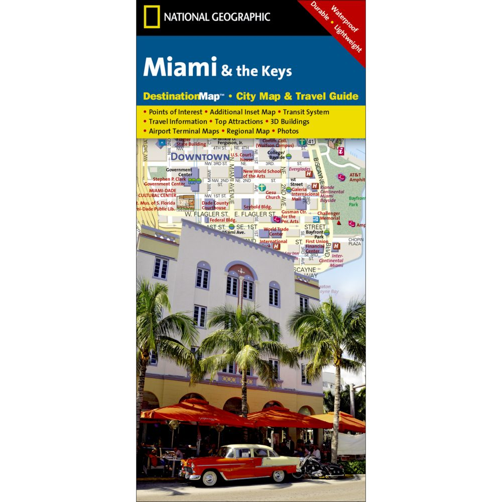 Map Of Florida Keys And Miami.Miami And The Keys City Destination Map Shop National Geographic