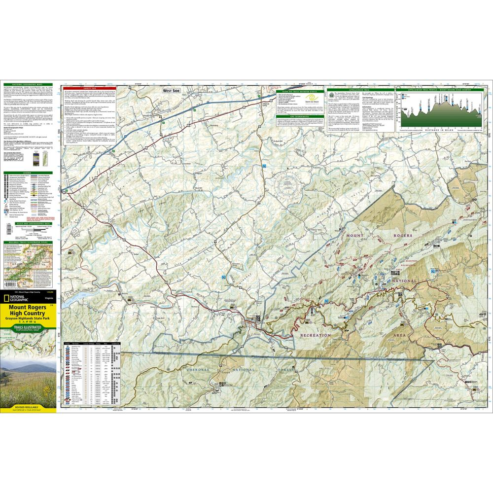 Mount Rogers High Country [Grayson Highlands State Park] Trail Map on big sky resort montana map, pv high map, oh high map,