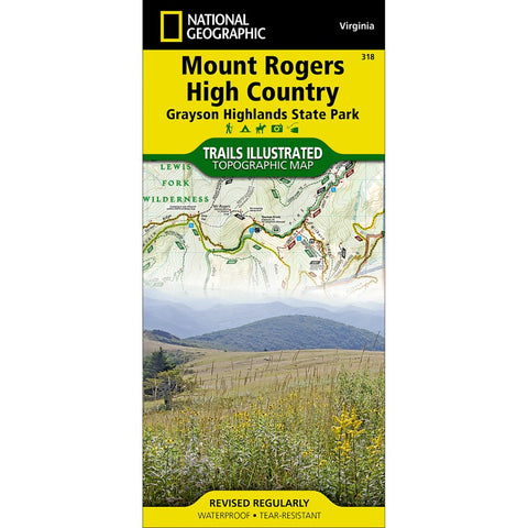 Mount Rogers High Country (Grayson Highlands State Park) Trail Map (#318)