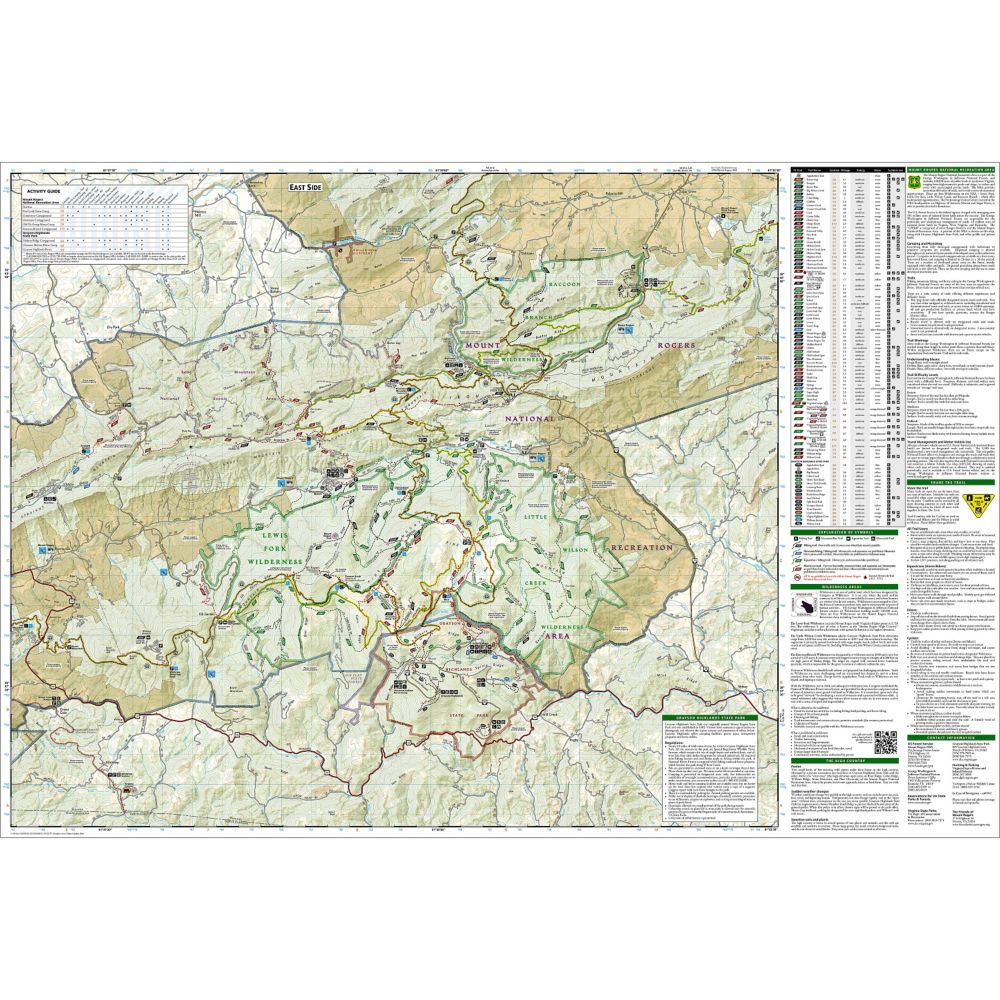 374b6fa71 Mount Rogers High Country [Grayson Highlands State Park] Trail Map (#318)