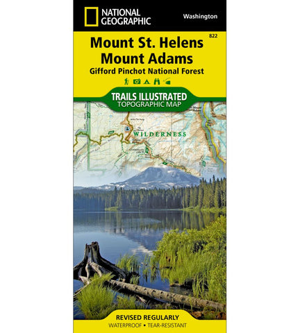 Mount St. Helens, Mount Adams [Gifford Pinchot National Forest] Trail Map (#822)