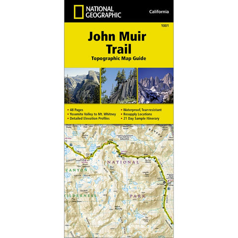 John Muir Trail Topographic Map Guide Trail Map (#1001)