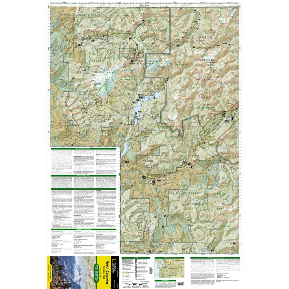 North Cascades National Park Trail Map (#223)