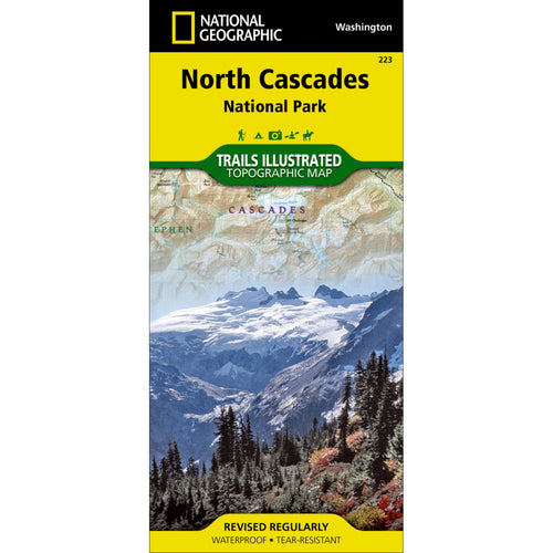 Image of North Cascades National Park Trail Map (#223)