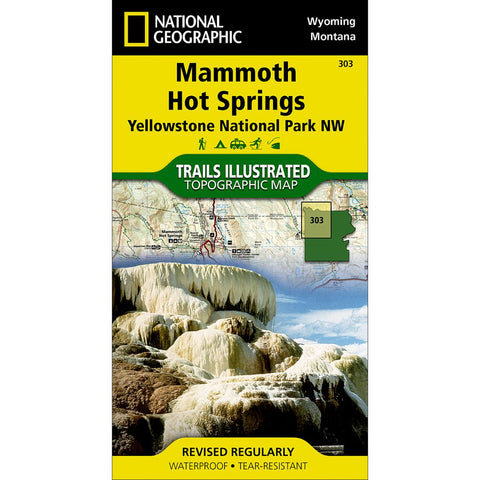 Mammoth Hot Springs: Yellowstone National Park NW Trail Map (#303)
