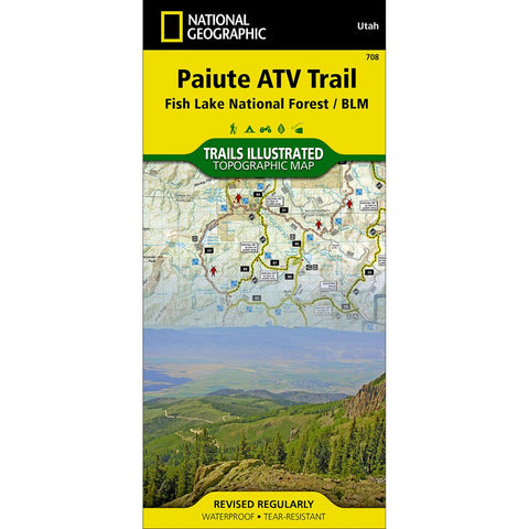 Paiute ATV Trail [Fish Lake National Forest, BLM] Trail Map (#708)