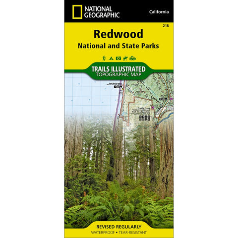 Redwood National and State Parks Trail Map (#218)