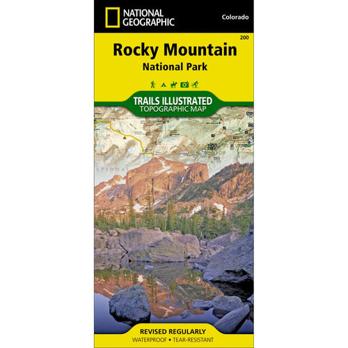 Image of Rocky Mountain National Park Trail Map (#200)