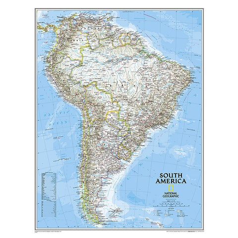 South America Classic Wall Map (23.5 x 30.25 inches)