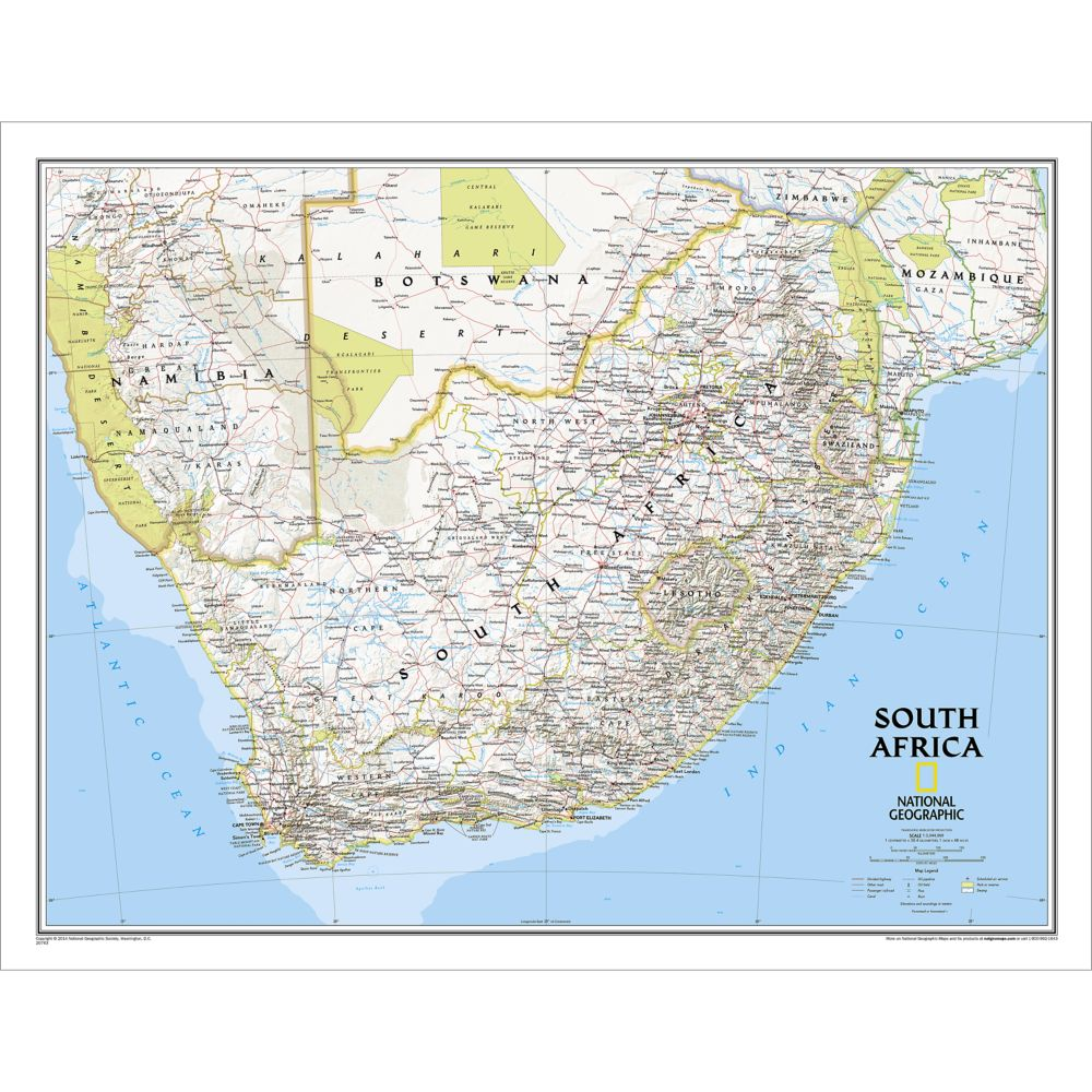 South Africa Classic Wall Map (30.25 x 23.5 inches) | Shop