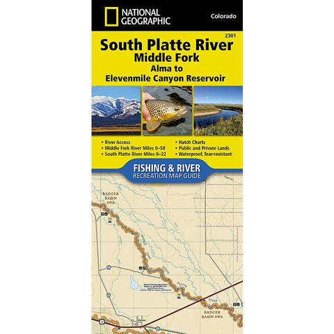 South Platte River [Middle Fork], Alma to Elevenmile Canyon Reservoir Trail Map (#2301)