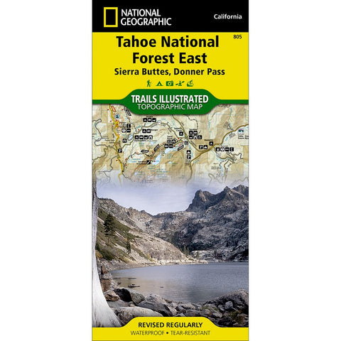 Tahoe National Forest East [Sierra Buttes, Donner Pass] Trail Map (#805)