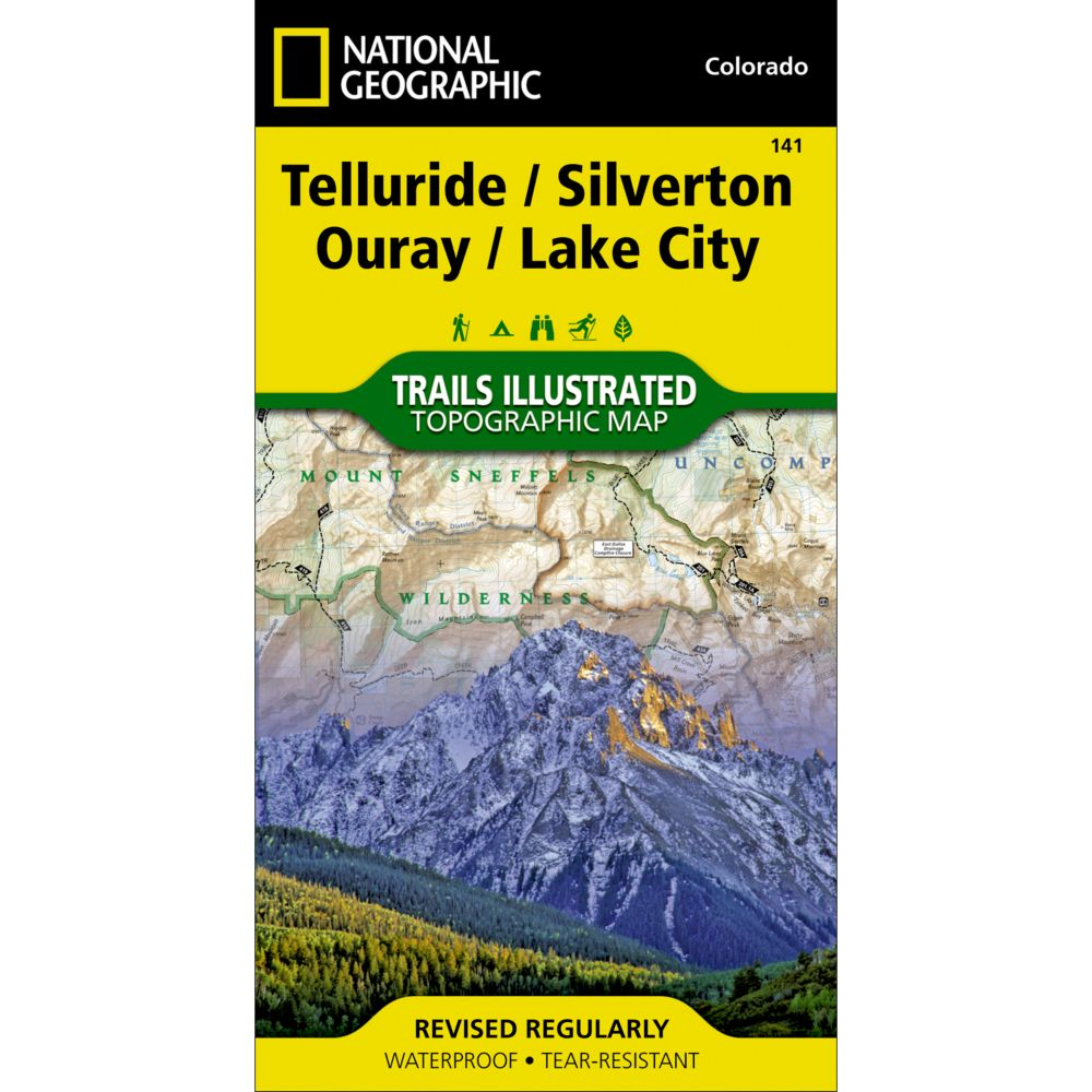 Telluride, Silverton, Ouray, Lake City Trail Map (#141)