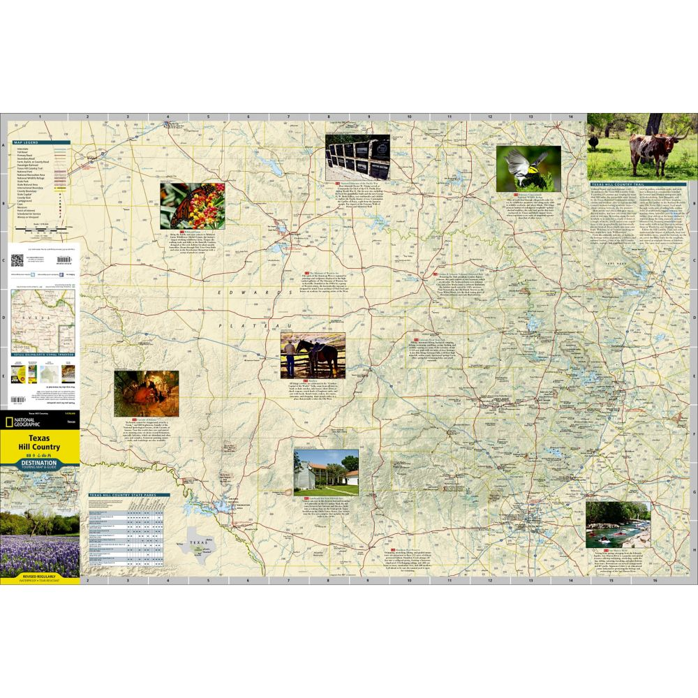Texas Hill Country Destination Map Shop National Geographic