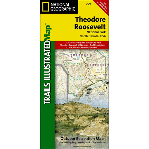 Theodore Roosevelt National Park Trail Map (#259)