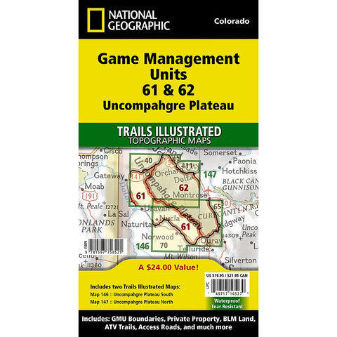 Uncompahgre Plateau GMU [Map Pack Bundle] Trail Maps