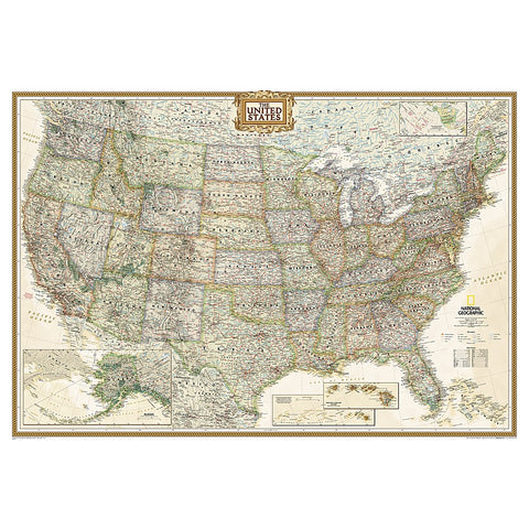 United States Executive Wall Map - Laminated (43.5 x 30.5 inches)