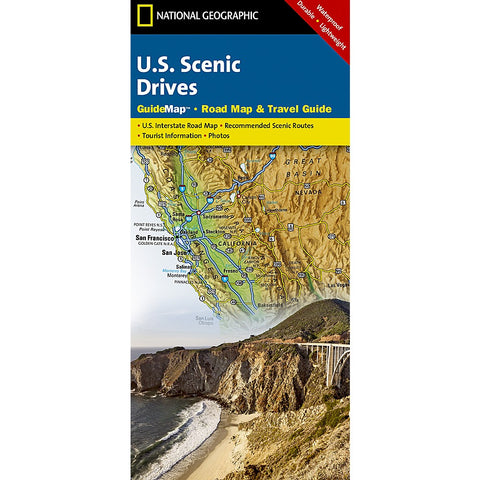 U.S. Scenic Drives Guide Map