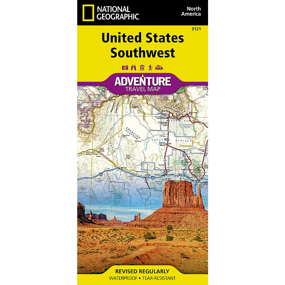 Southwest America Map.United States Southwest Adventure Map Shop National Geographic