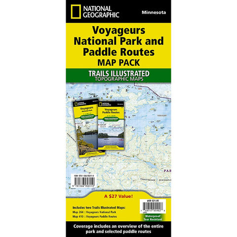 Voyageurs National Park and Paddle Routes [Map Pack Bundle]