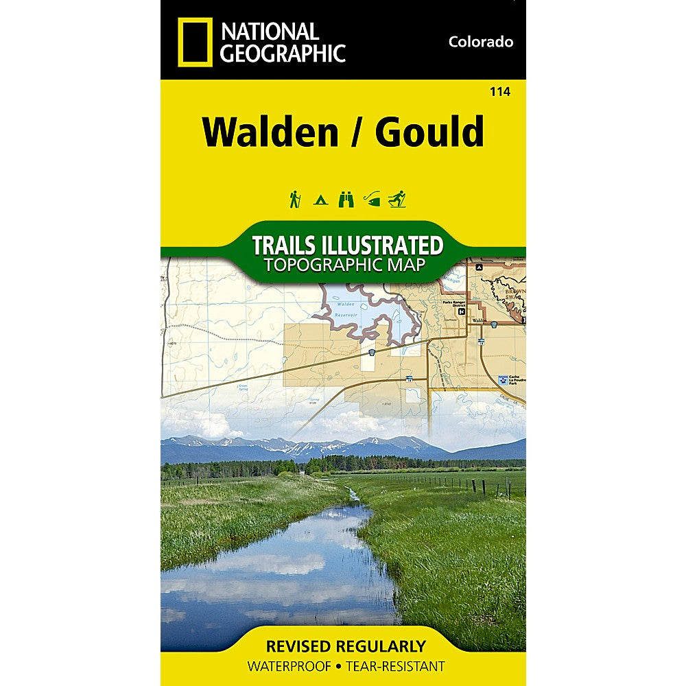 Walden Gould Trail Map 114 Shop National Geographic