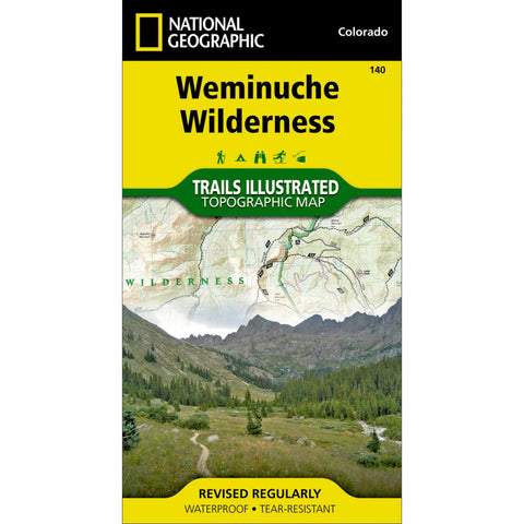 Weminuche Wilderness Trail Map (#140)