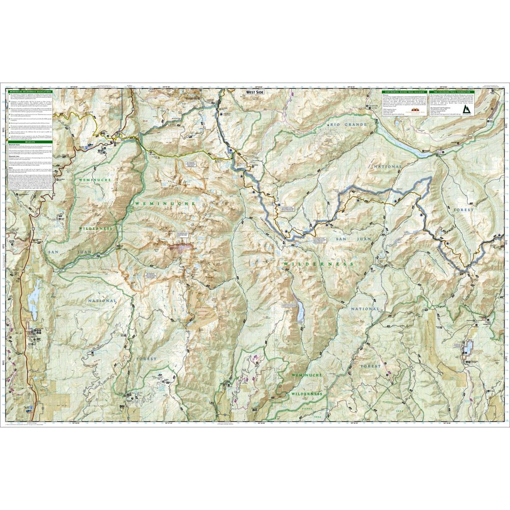 Weminuche Wilderness Map Weminuche Wilderness Trail Map (#140) | Shop National Geographic