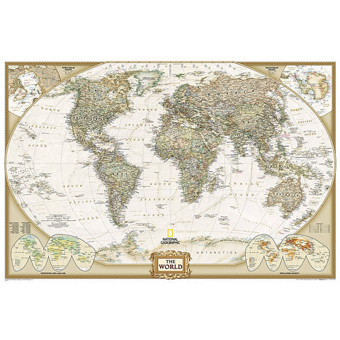 World Executive in gift box Wall Map (36 x 24 inches)
