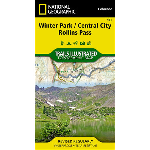 Winter Park, Central City, Rollins Pass Trail Map (#103)