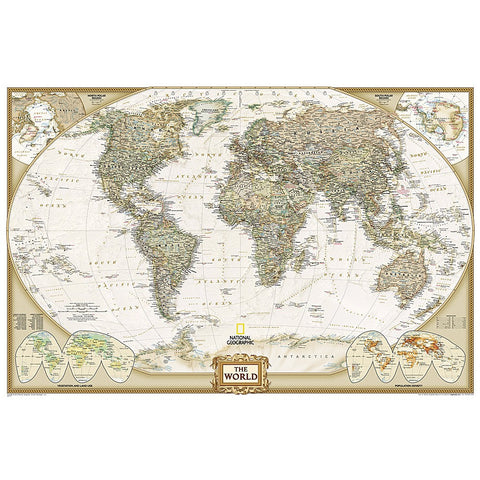 World Executive Enlarged Wall Map (73 x 48 inches)