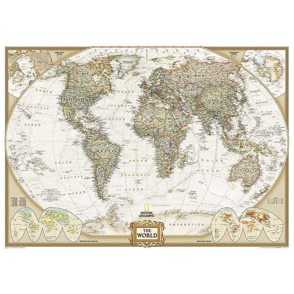 World Executive Enlarged Wall Map - Laminated (73 x 48 inches) on usa map, us elevation map, all world continents, all the world, geographical map, two worlds map, national map, continents map, lds temple locations map, south america map, tour du mont blanc map, country map, main parts of a map, www.world map, asia map, australia map, google maps trinidad street map, metal map, india map, uk map,
