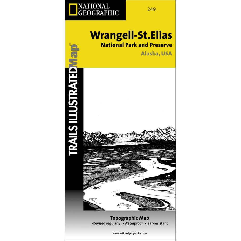 Wrangell-St. Elias National Park and Preserve Trail Map (#249)