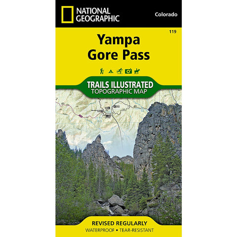 Yampa, Gore Pass Trail Map (#119)