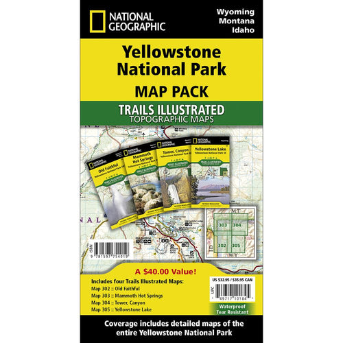 Image of Yellowstone National Park Trail Maps (Map Pack Bundle)