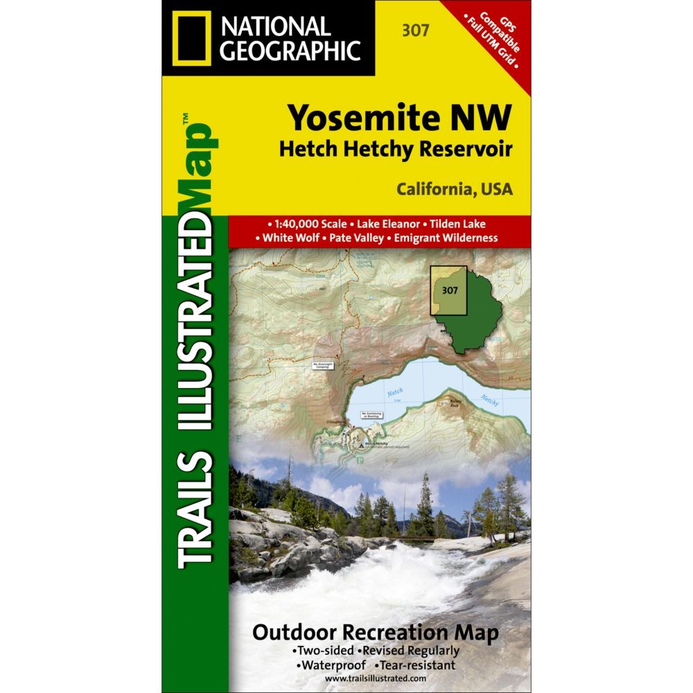 Nw Usa Map.Yosemite Nw Hetch Hetchy Reservoir Trail Map 307 Shop National